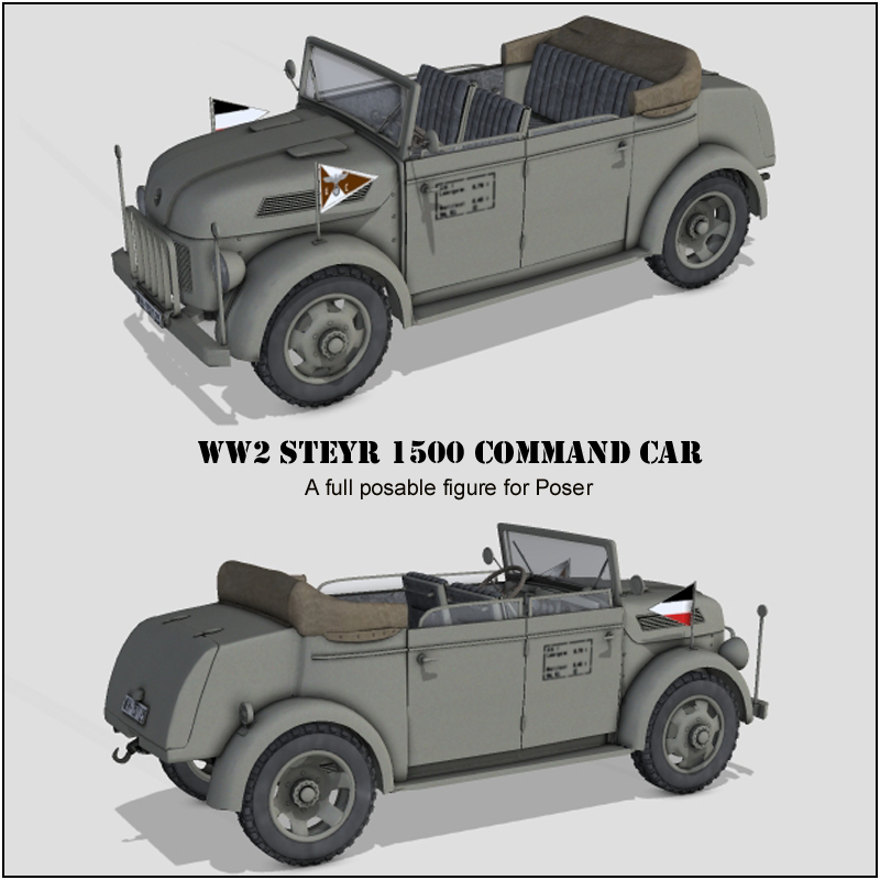 WW2 steyr 1500 command car - Extended License