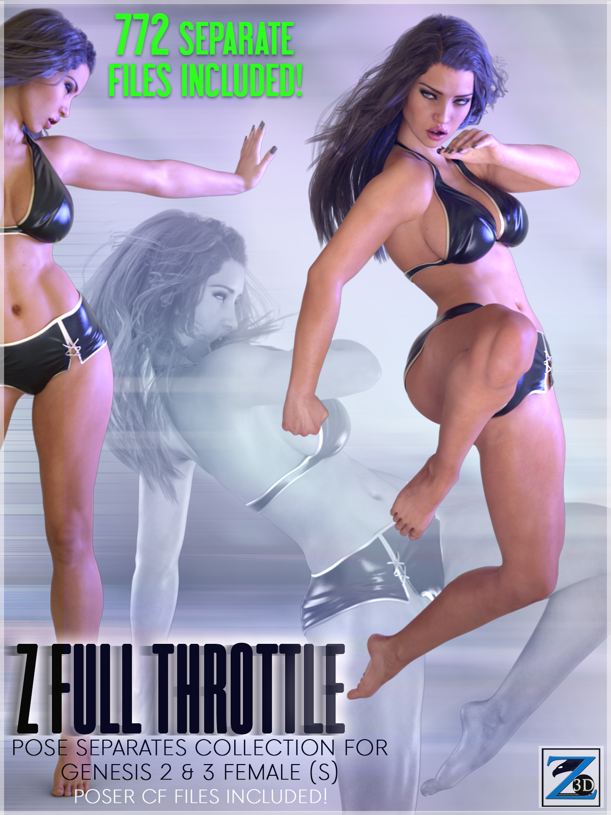 Z Full Throttle - Pose Separates Collection for Genesis 2 & 3 Female(s)