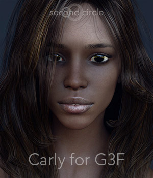 Carly for G3F 3D Figure Assets secondcircle