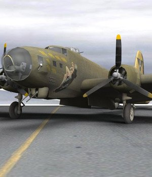 B-17G Flying Fortress (for Poser)