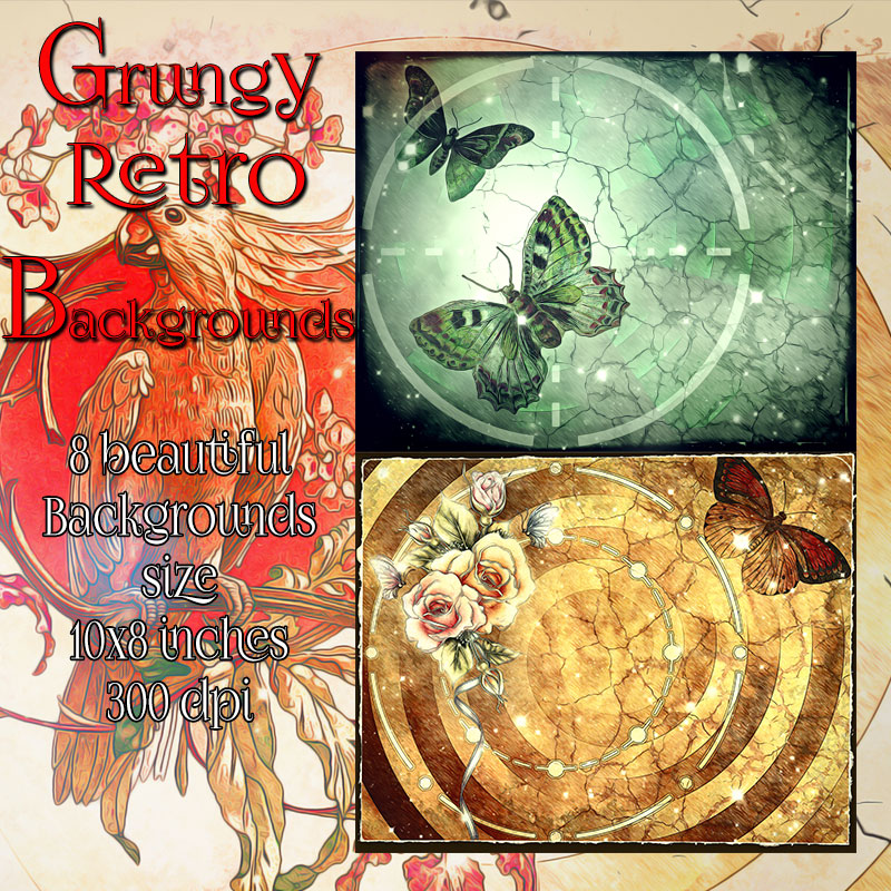 Grungy Retro Backgrounds