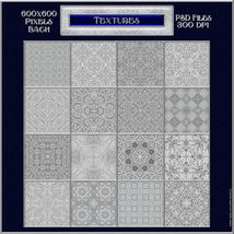 Ornamental Silver Seamless Texture Pack image 2