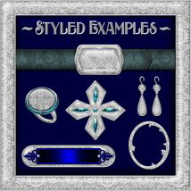 Ornamental Silver Seamless Texture Pack image 4