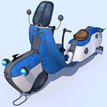Retro flying scooter image 1