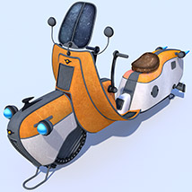 Retro flying scooter image 2