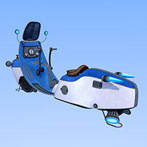 Retro flying scooter image 3