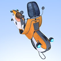 Retro flying scooter image 4
