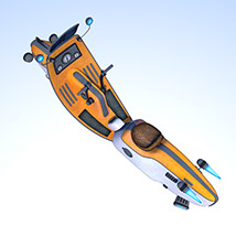 Retro flying scooter image 5
