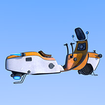 Retro flying scooter image 7