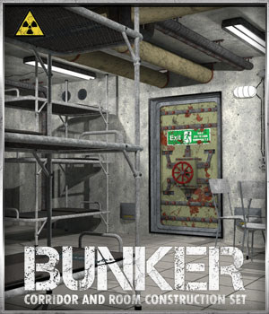 Bunker: S2 - Corridor and Room Construction Set - Extended License 3D Models Extended Licenses 3-d-c