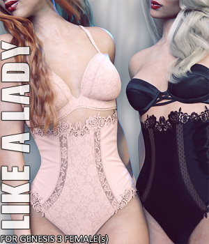 Like A Lady for Genesis 3 Female(s) 3D Figure Essentials lilflame