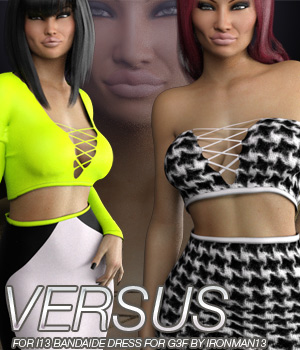 VERSUS - i13 BANDAIDE DRESS for the Genesis 3 Female(s) 3D Figure Essentials Anagord
