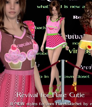 Revival for Flare Cutie 3D Figure Assets JudibugDesigns