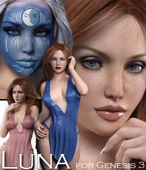 Luna for Genesis 3 3D Figure Essentials Rhiannon