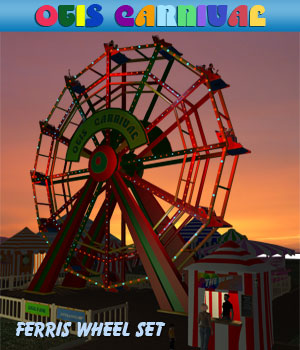 Otis Carnival Fun Fair Ferris Wheel 3D Models Simon-3D