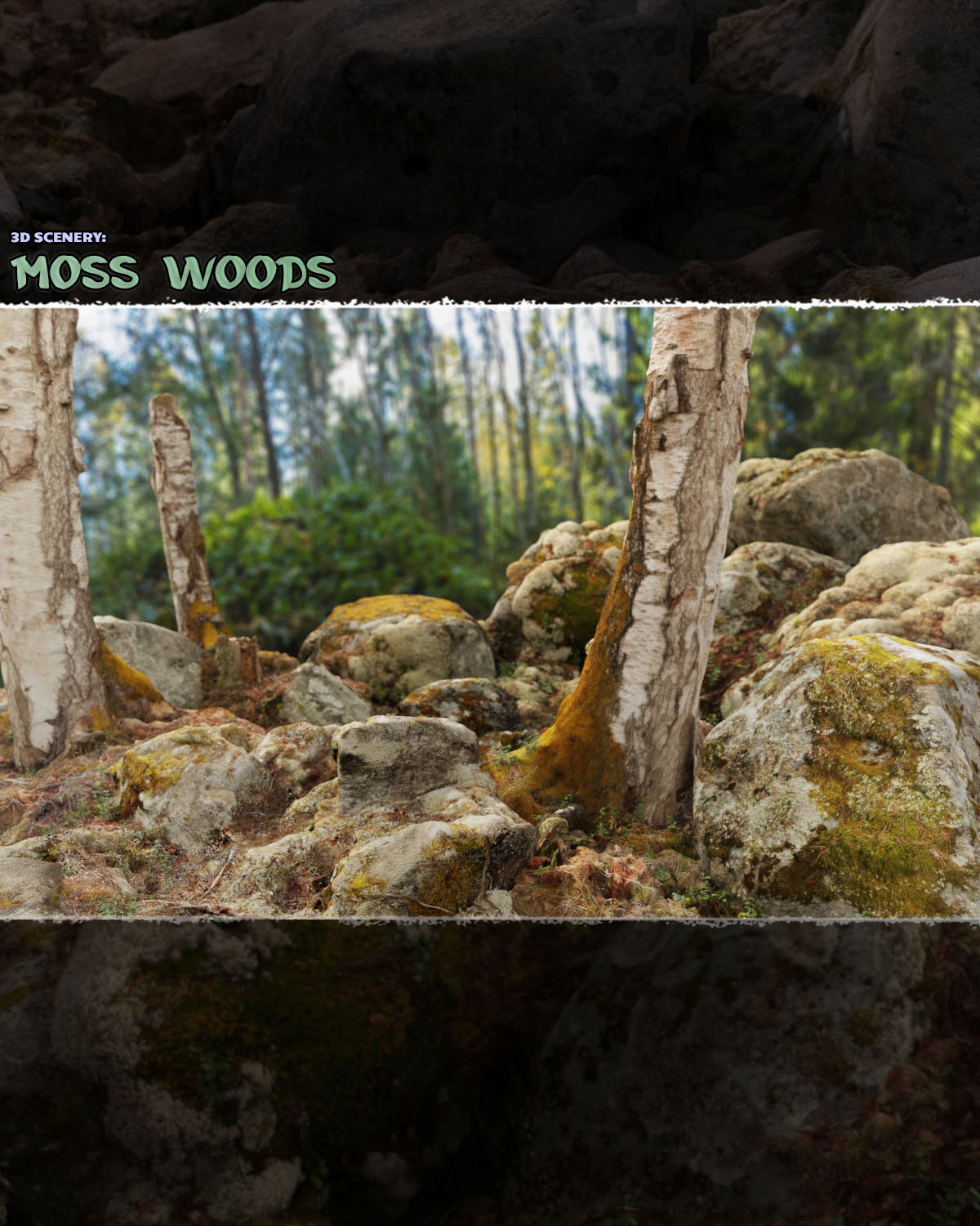 3D Scenery: Moss Woods - Extended License