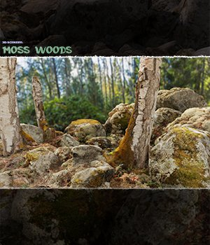 3D Scenery: Moss Woods - Extended License - Gaming - SHaaraMuse3D