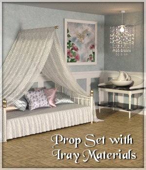 Daybed Prop Set - DAZ Studio 3D Models Lully