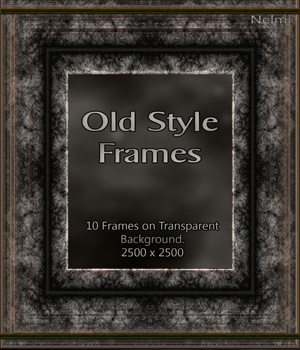 10 Old Frames on transparent background