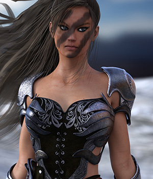Liz the Warrior for Genesis 3 Female 3D Figure Assets ShoxDesign