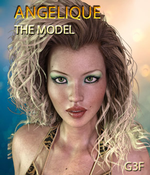 ANGELIQUE THE MODEL for G3F 3D Figure Essentials Mar3D