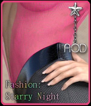 Fashion: Starry Night IRay 3D Figure Essentials ArtOfDreams