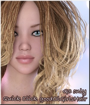 Quick-Click- for G3- GoodOlDays for GoodOlGirl-Hair 3D Figure Essentials LUNA3D