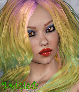 Twizted Good Ol Girls Hair 3D Figure Essentials TwiztedMetal