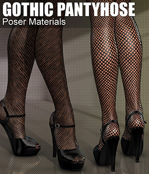 Poser - Gothic Pantyhose 2D Graphics Merchant Resources Atenais