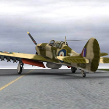 Hurricane Mk IIc Tank-Hunter (for Poser) image 1