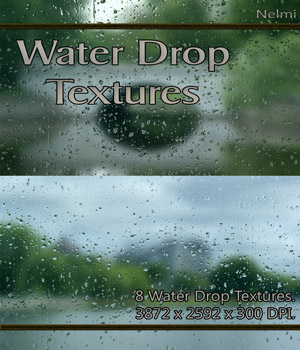 8 Water Drop Textures For Designers 2D Graphics nelmi