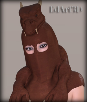 Dragon Hood for G3F 3D Figure Assets EdArt3D
