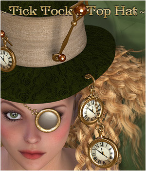 Tick Tock - Top Hat 3D Figure Assets P3D-Art