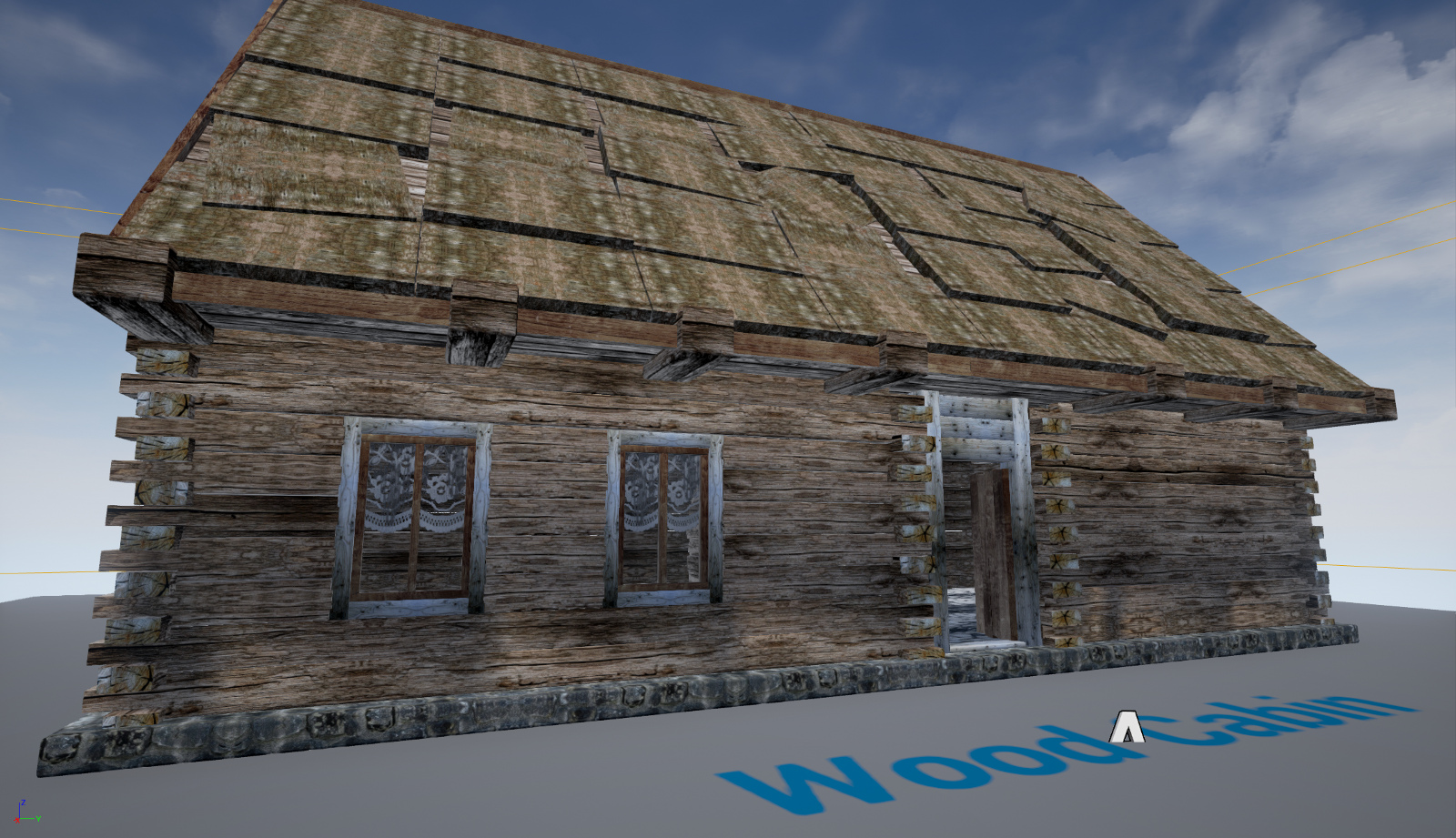 Wood Cabin - Game model with Unreal Engine Project 3D Models 3D