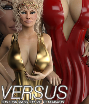 VERSUS - Luna Dress for Genesis 3 Female 3D Figure Essentials Anagord