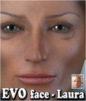 EVO face - Laura 3D Figure Assets 3Dream