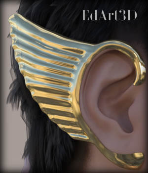 Morphing Wings Earrings for G3F 3D Figure Essentials EdArt3D