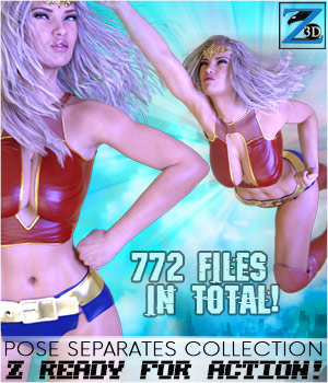 Z Ready For Action! - Pose Separates Collection for Genesis 2 & 3 Female(s) 3D Figure Essentials Zeddicuss