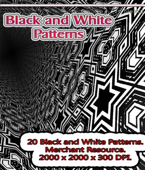 20 Black and White Patterns: Merchant Resource  2D Merchant Resources nelmi