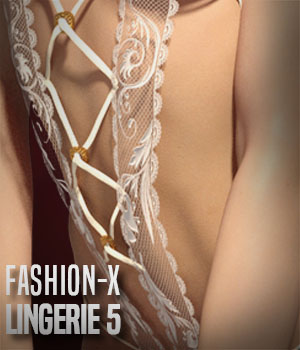 Lacey for Fashion-X Lingerie 5 3D Figure Assets xtrart-3d