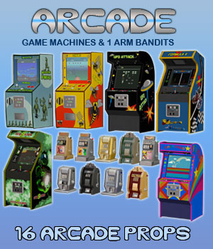 Arcade Game Machines 3D Models Simon-3D