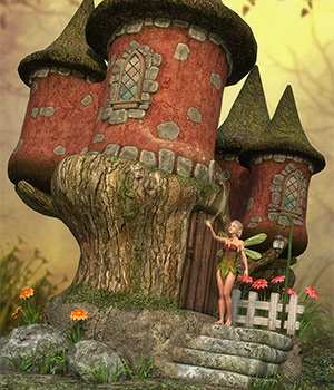 DMs Fairy Castle 3D Figure Assets 3D Models DM