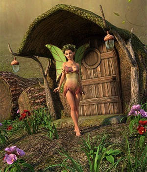 DMs Fairy Trunk House 3D Figure Assets 3D Models DM