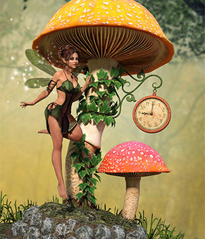 DM's Fairy Clock 3D Figure Essentials 3D Models DM