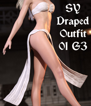 SY Draped Outfit 01 G3 3D Figure Essentials SickleYield