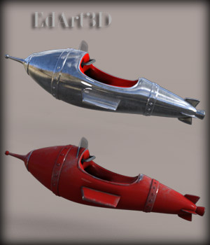 Morphing Funny Rocket for G3F/G3M 3D Models EdArt3D