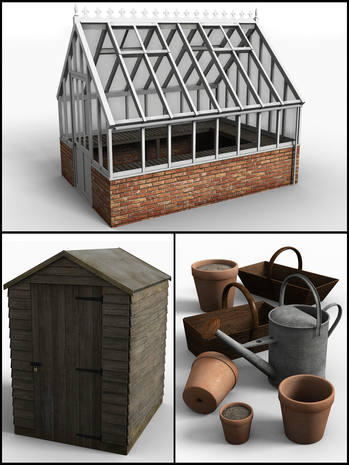 Victorian greenhouse set by DryJack
