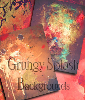 Grungy Splash Backgrounds by antje