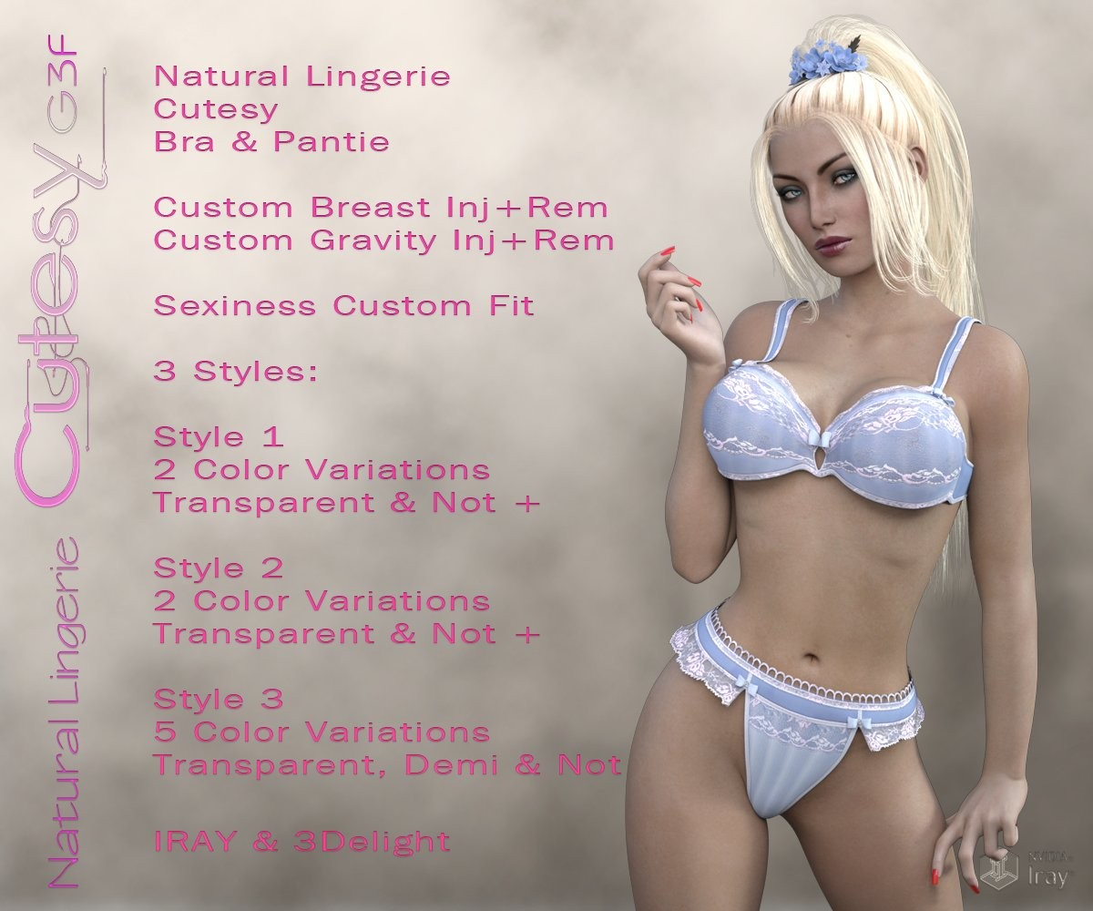 Natural Lingerie Cutesy G3F