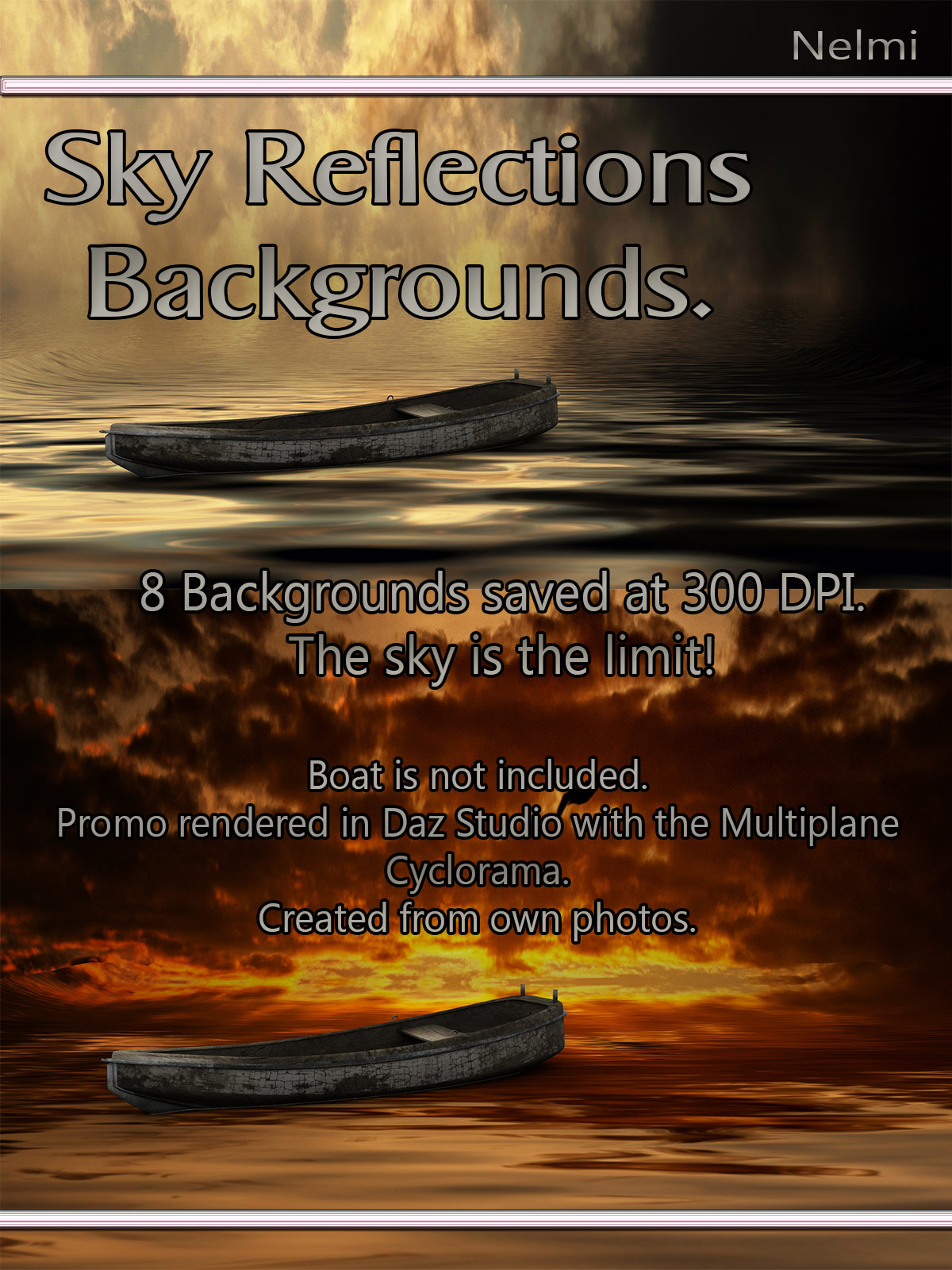 8 Sky Reflections Backgrounds